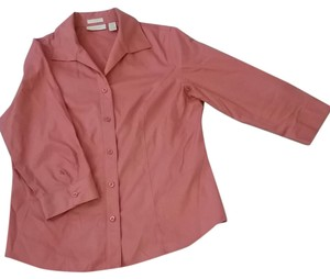 Chico's Button Down Shirt Salmon