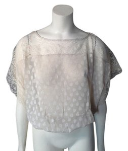 Flying Tomato Lace Bat Wing Nwot Top OFF WHITE OR BEIGE