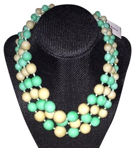 Tan And Green Necklace