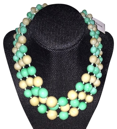 Other Tan And Green Necklace