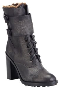 Tory Burch Gray Combat Charcoal Boots