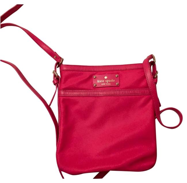 Item - Bright Pink Nylon Cross Body Bag