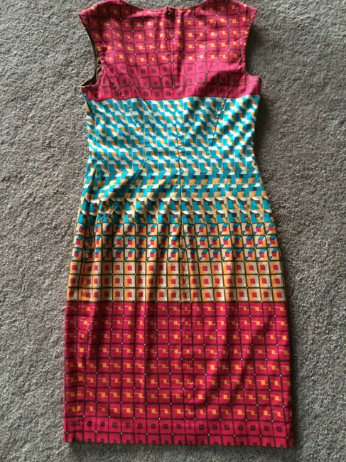 Nine West short dress Turquoise/Red/Multicolored on Tradesy
