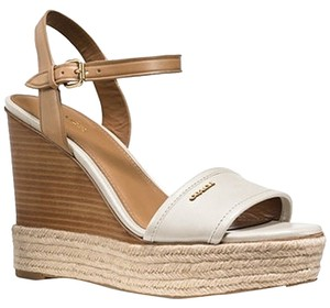 Coach CHALK/NUDE Wedges