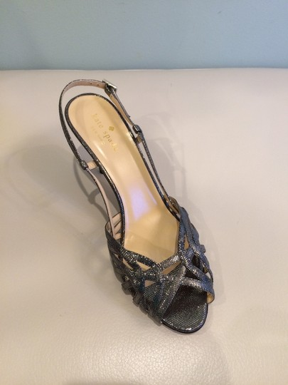 Kate Spade Silver Pewter Sandals