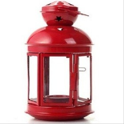 Red - Star Pattern Nautical Tealight Lantern