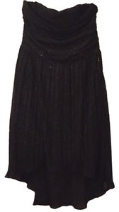 Express High-low Sequins Strapless Dress
