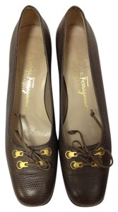 Salvatore Ferragamo Classic Chic Brown Gray/Brown Formal
