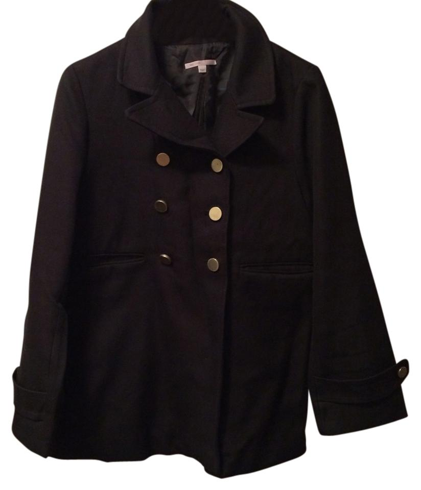 Gap Blac Double Breasted Swing Coat Size 12 L