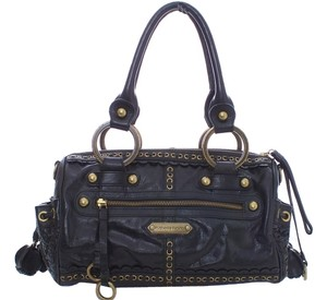 Isabella Fiore Leather Brass Heavy Large Shoulder Bag