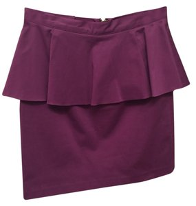 Alice + Olivia + Peplum Skirt Purple