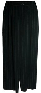 Escada Pinstripe Trouser Pants Black