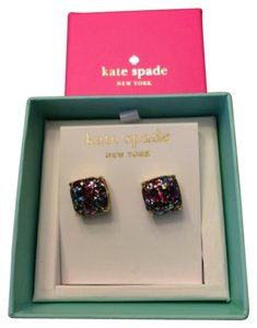 Kate Spade New In Box Kate Spade Multi Glitter Stud Earrings