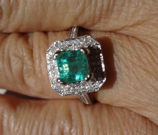 Other SALE*1.73ct NATURAL COLOMBIAN EMERALD&DIAMOND 14k GOLD ENGAGEMENT RING