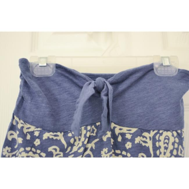 American Eagle Outfitters Strapless Blue Halter Top
