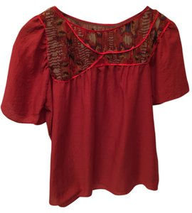 Development by Erica Davies Boho Bohemiam Top Red