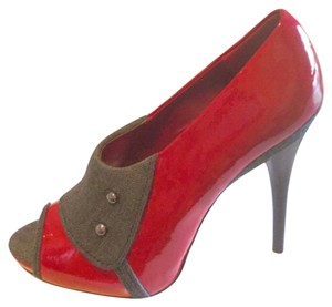 Baby Phat Red and Grey Mules