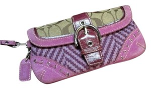 Coach Rare Girly Plaid Wristlet in Purple