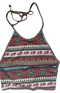 Urban Outfitters Multi Colored Halter Top