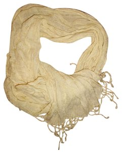 Other Pale Yellow Loose/Flowy Fringed Boho Scarf