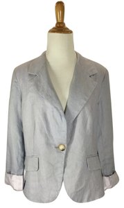 For Cynthia #linen Blue Blazer