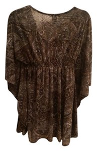 INC International Concepts Top Paisley Green