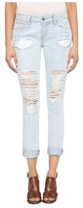 Paige Denim Distressed Skinny Jeans-Distressed