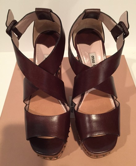 Miu Miu Brown Platforms