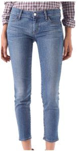 Koral Cigarette Ankle Cropped Skinny Jeans-Medium Wash