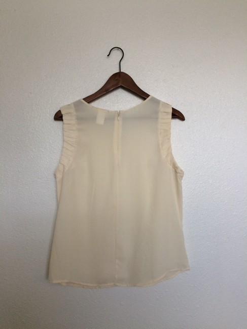 One Clothing Ruffle Sheer Flowy Top Ivory