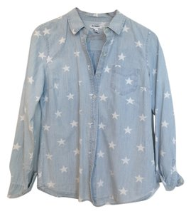 Old Navy Star Longsleeve Button Down Shirt Light blue