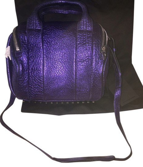 Preload https://item2.tradesy.com/images/alexander-wang-rockie-metallic-purple-pebble-leather-satchel-5728576-0-0.jpg?width=440&height=440