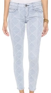 Current/Elliott Stiletto Ankle Denim Skinny Jeans-Light Wash