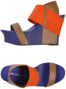 United Nude New Multi-color Orange and Brown Wedges