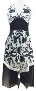 Maggy London short dress Black & White #floral #eyelet on Tradesy