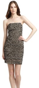 Alice + Olivia C110695531 + Dvf Amanda Uprichard Bcbg Metallic Sequen Beaded Embellished Strapless Sexy Victorias Secret Holiday Dress