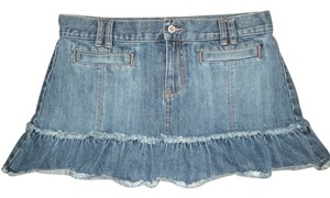 Old Navy Ruffles Mini Skirt Blue