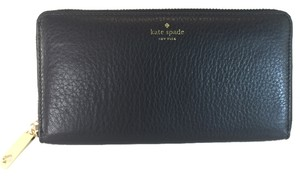 Kate Spade Kate Spade Neda Grey Street Cobble Hill Zip Around Black Wallet Envelope