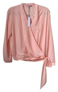 Three Eighty Two Stella Tie Top Pink