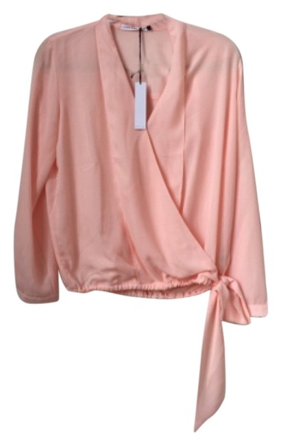 Three Eighty Two Stella 382 Wrap Top Pink