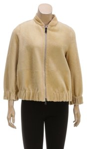 Brunello Cucinelli Tan Womens Jean Jacket