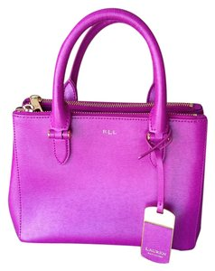 Ralph Lauren Designer Rll Satchel in Hot Pink