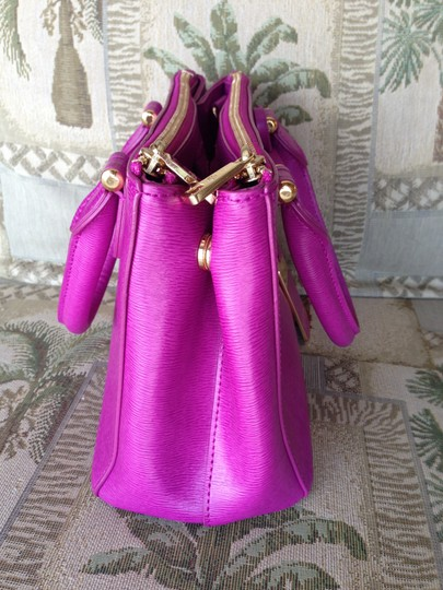 Ralph Lauren Leather Handbag Satchel in Hot Pink