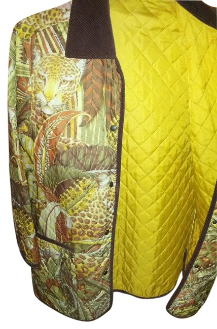 Item - Print In Browns Gold Yellow Burnt Orange Green Jacket Size OS (one size)