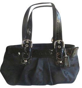 Coach Patent Leather Jacquard Hobo Bag