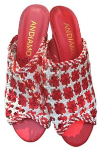 Andiamo Red and white Pumps