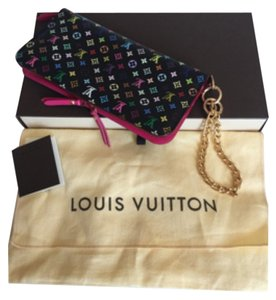 Louis Vuitton Insolite Noir Multicolor Fuchsia Pink Wallet
