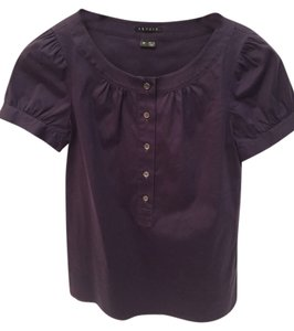 Theory Button Top Purple