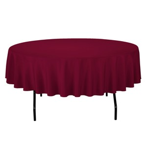 Burgundy Lot 9 Polyester Tablecloth
