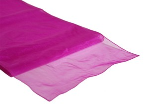 Lot 31 Fuchsia Table Runner Organza